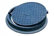 Люк канализационный полимерпесчаный тяжёлый 25т (С250)