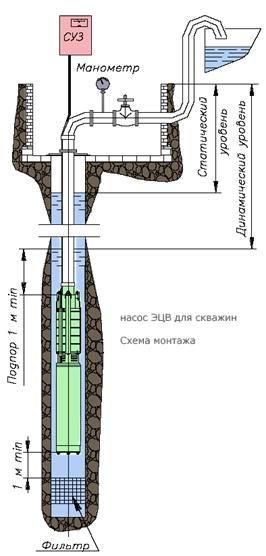 Насосы ЭЦВ (скважинные насосы )